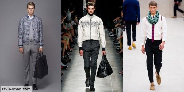 Прямые мужские брюки