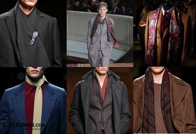 Модный мужской шарф