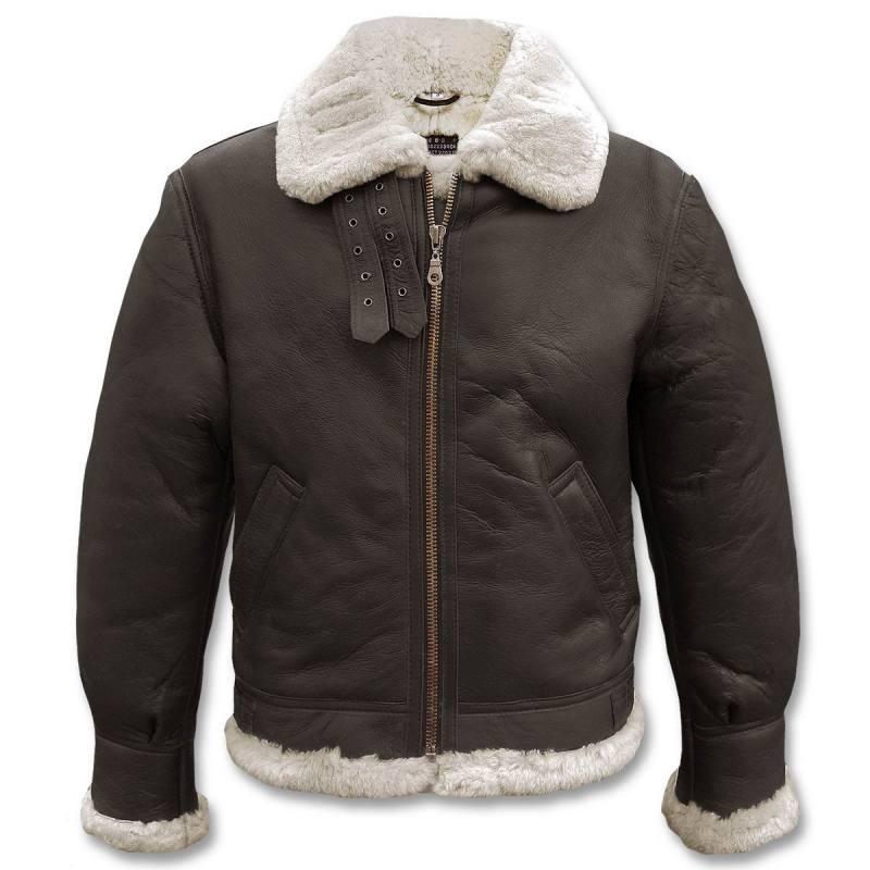 Куртка пилот мужская зимняя из овчины