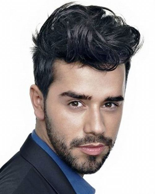 Стрижка мужские на средние волосы