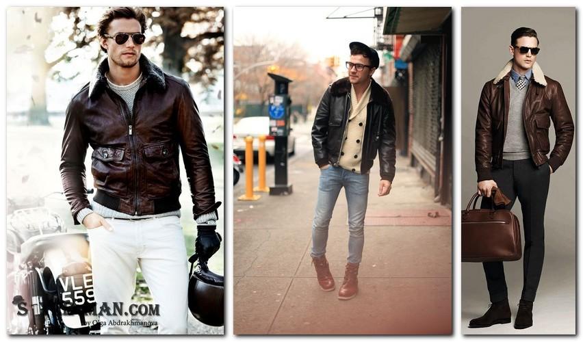 Что носить с кожаной курткой зимней