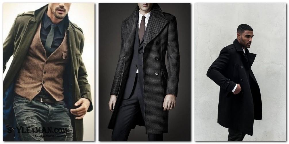 Мужское пальто шинель