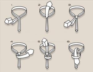 Как завязывать галстуки Узел пратт