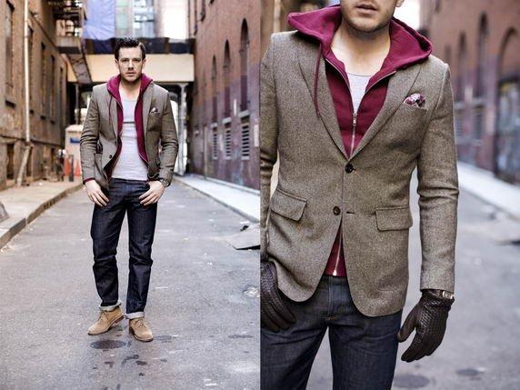 Пиджак под джинсы