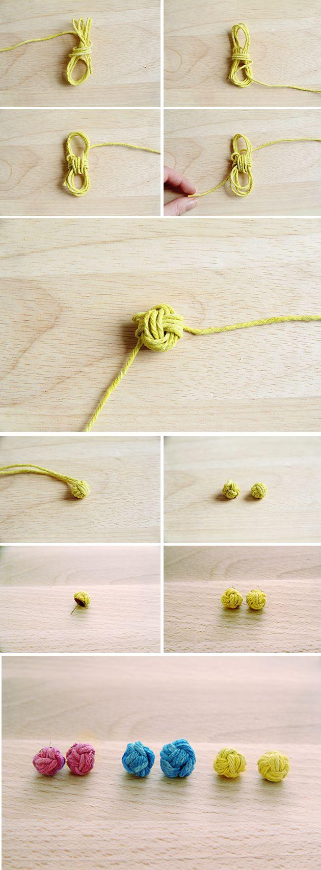 Запонки узелок