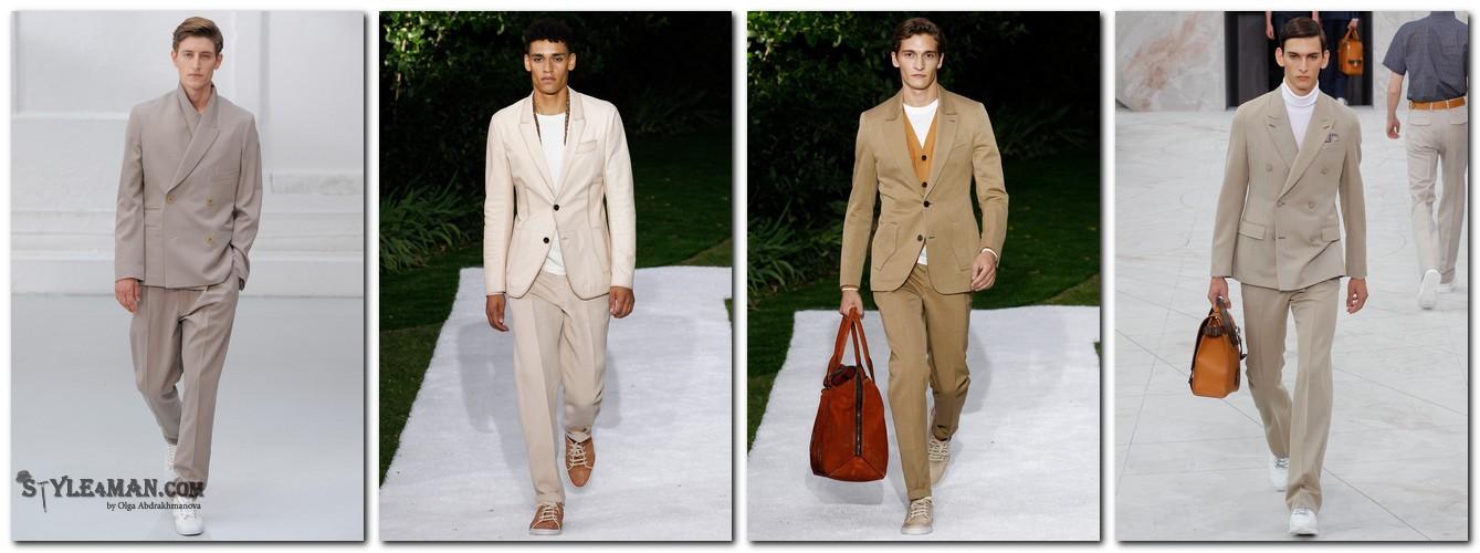 Мужские костюмы лето 2015 Бежевый