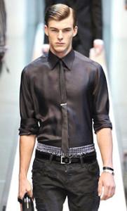 Мужской галстук черный