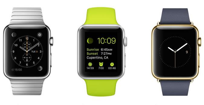 Три линейки часов Apple
