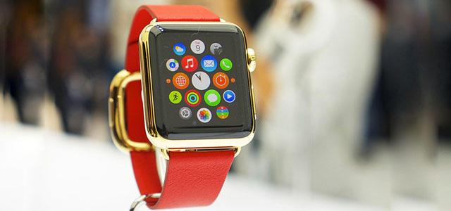 Красные часы apple