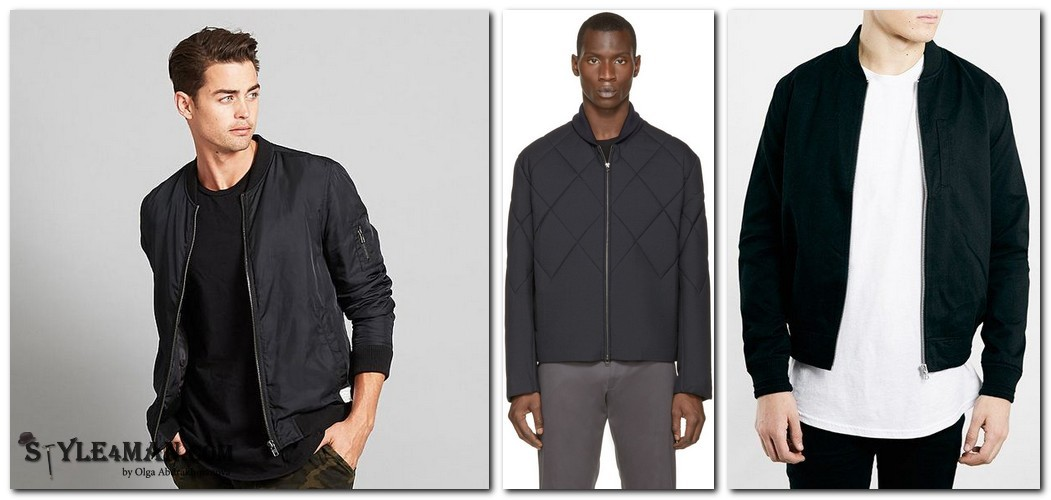 Куртка мужская бомбер черная