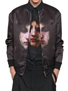 Куртка бомбер с принтом
