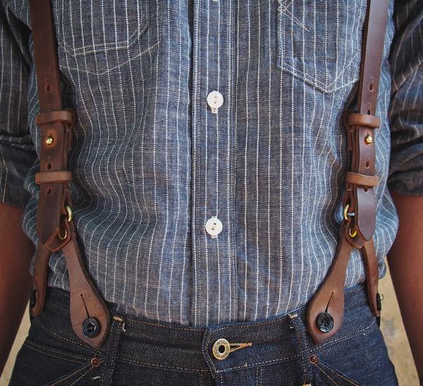 Подтяжки для брюк на пуговицах