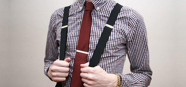 Подтяжки для брюк мужские черные