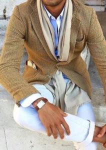 Мужской светлый шарф