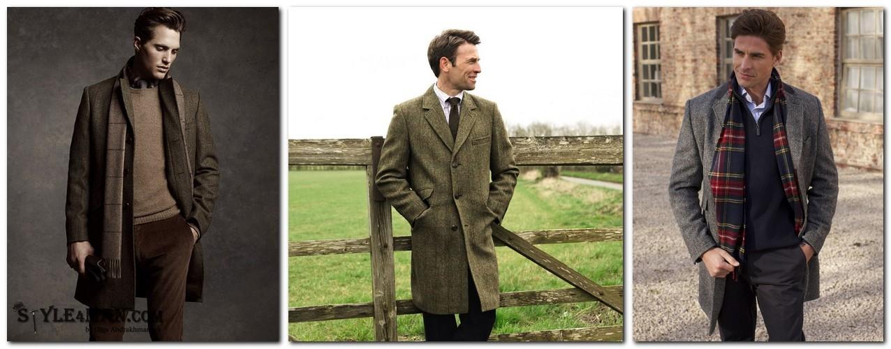 Зимнее пальто Harris Tweed