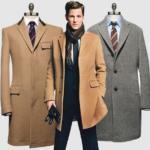Пальто с классическим костюмом