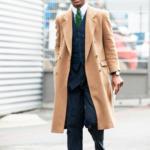 Пальто мужское бежевое