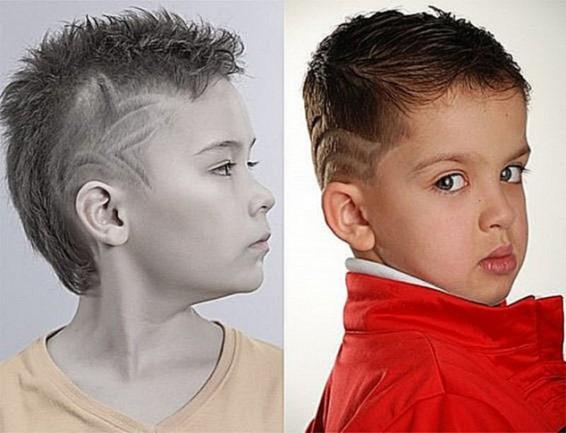 Стрижка с выбритыми висками для мальчика