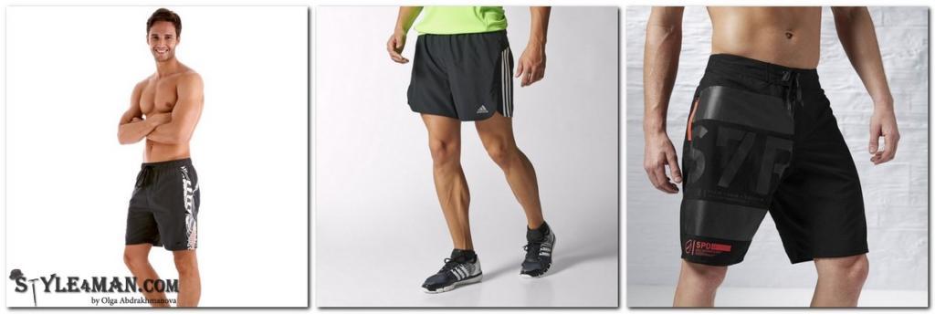 шорты для фитнеса мужские