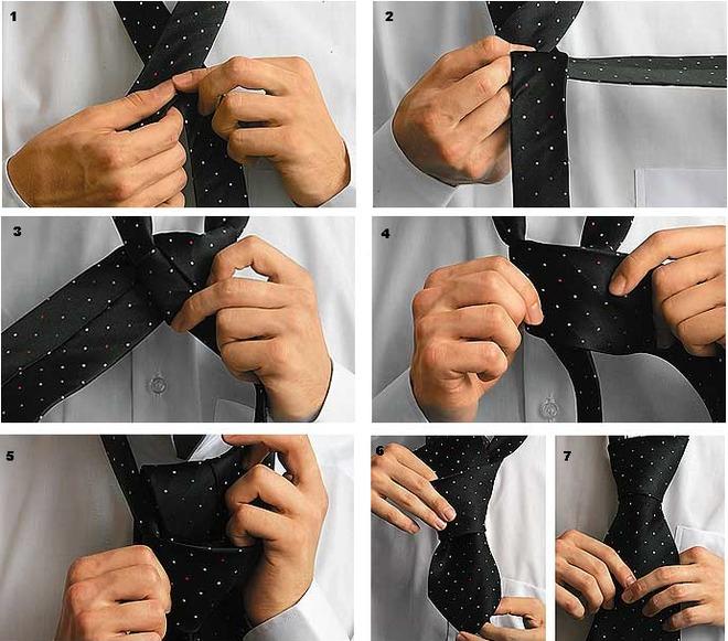 галстук завязать способы