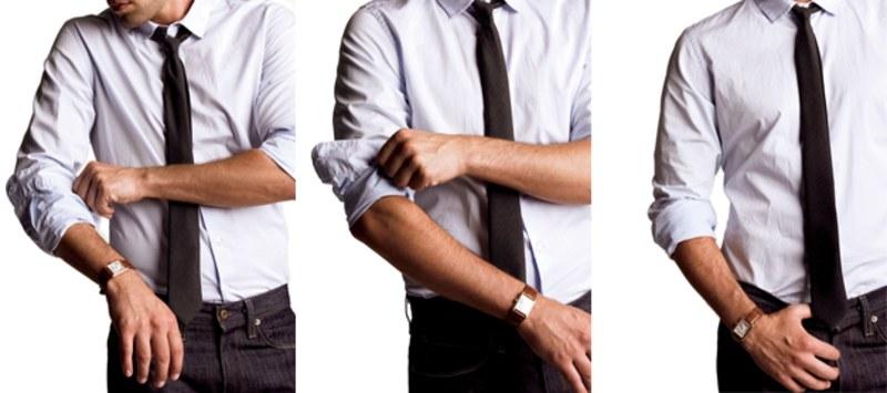 как закатать рукава на рубашке