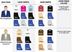 как правильно сочетать рубашку по цвету