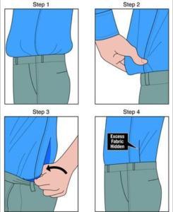 как приталить мужскую рубашку самому