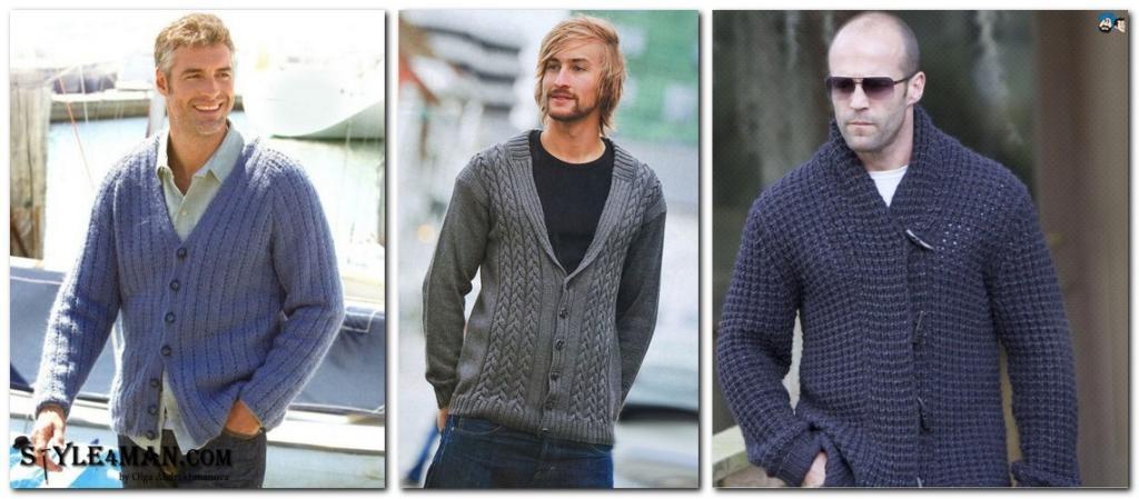 пиджак трикотажный мужской