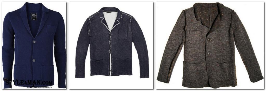 мужской пиджак трикотажный