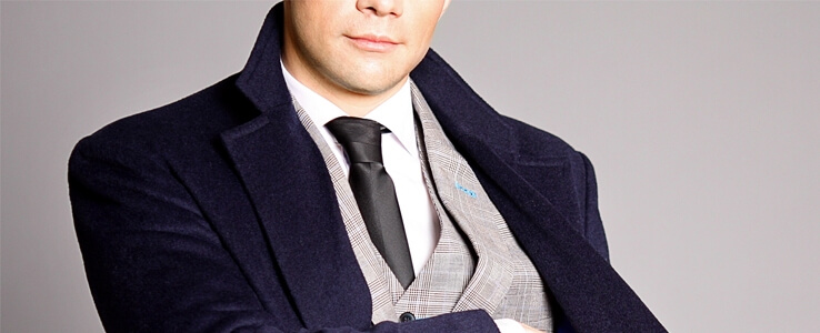 мужское пальто с чем носить
