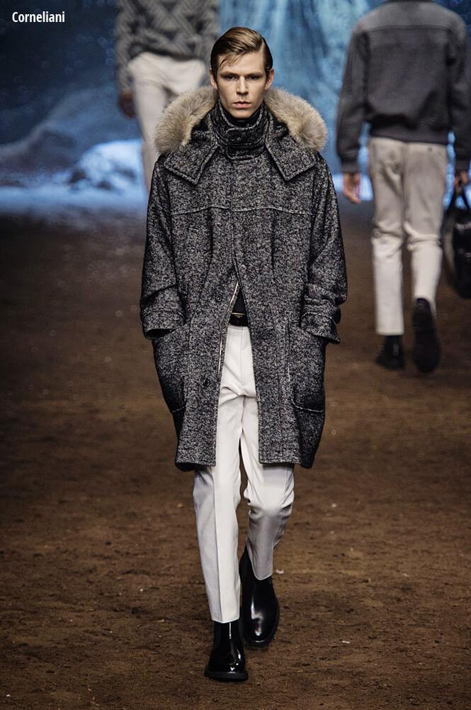 мужское зимнее пальто с мехом