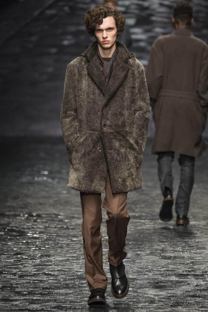 мужское меховое пальто Corneliani
