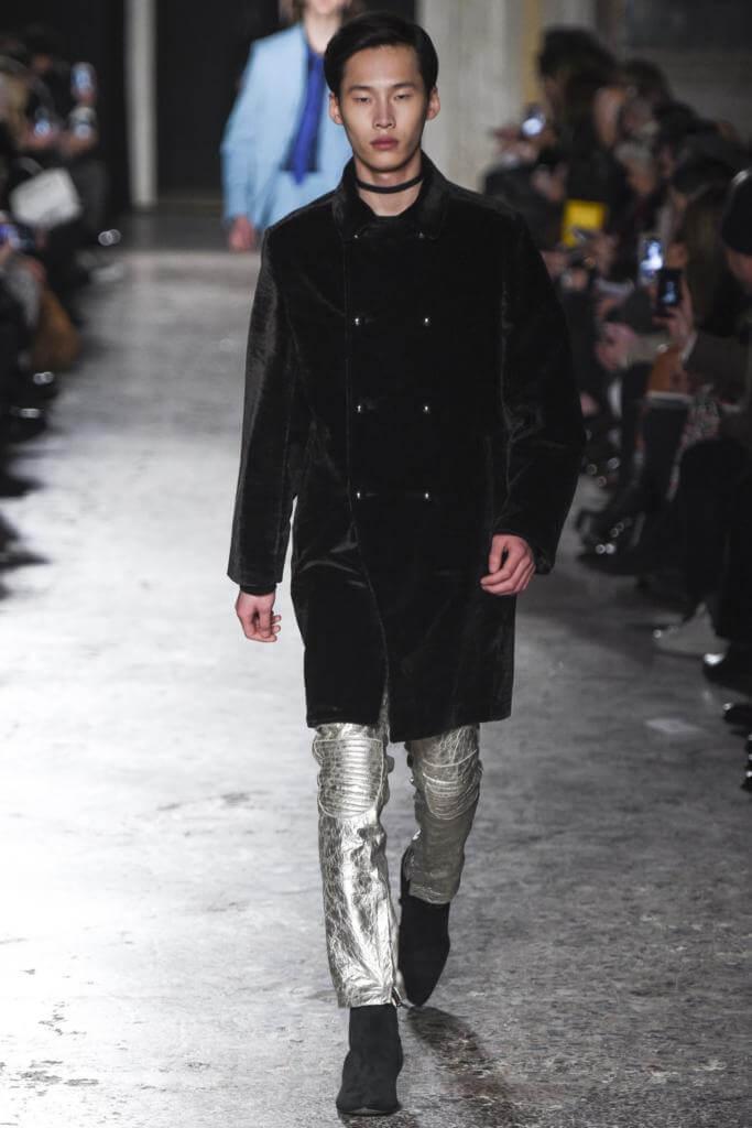 мужское меховое пальто Costume National
