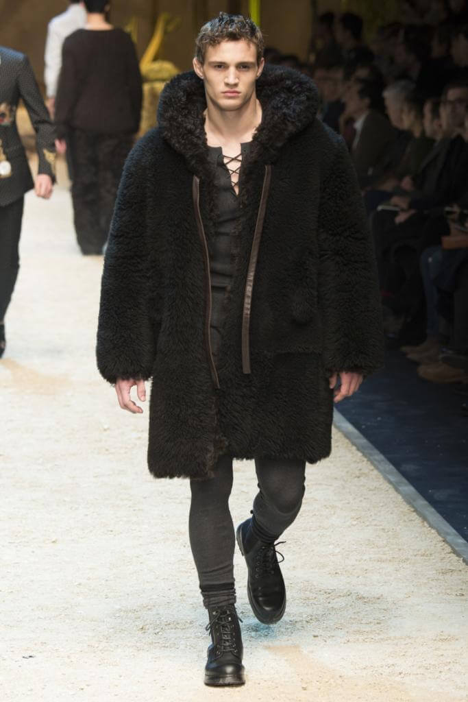 мужское меховое пальто Dolce&Gabbana