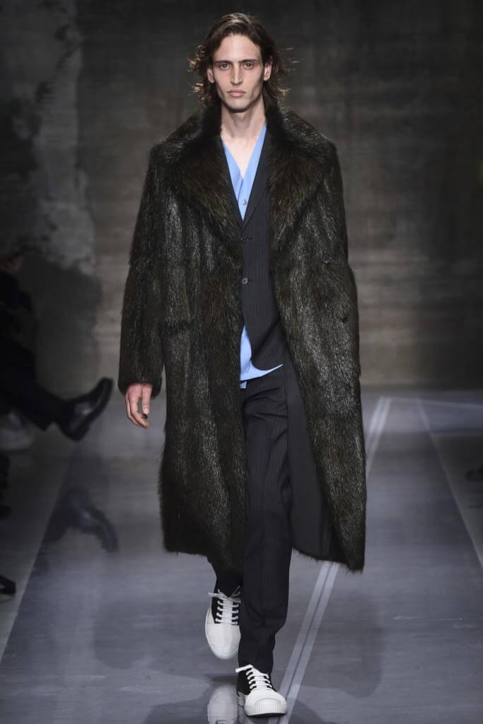 мужское меховое пальто Marni