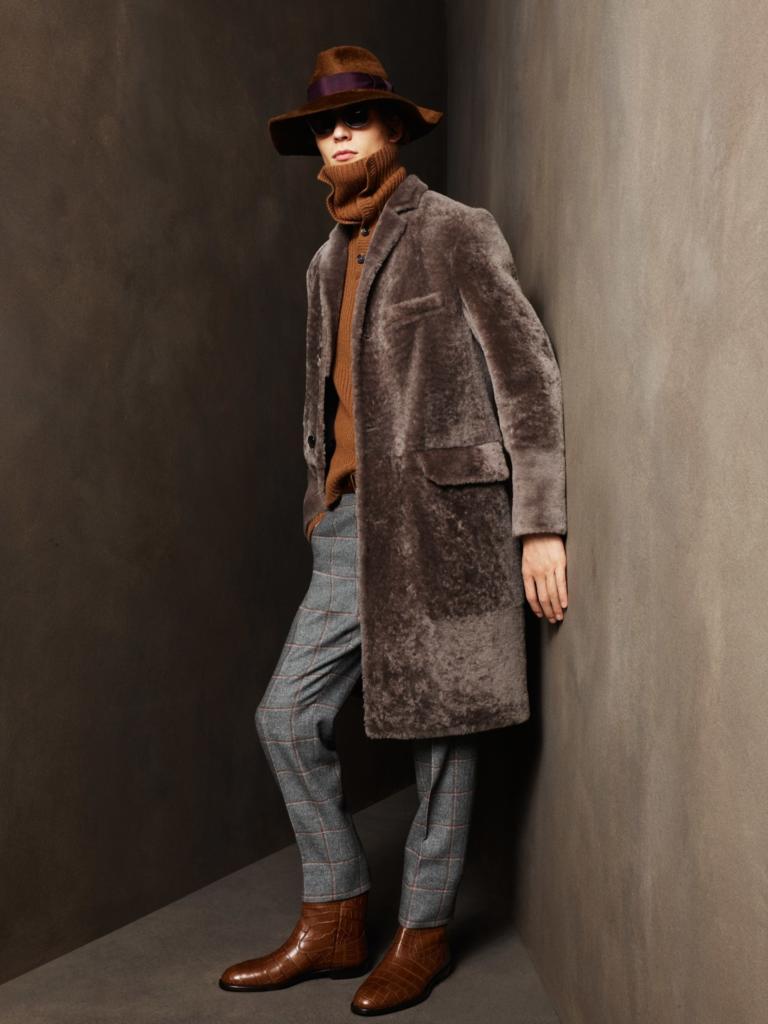меховое пальто Bally