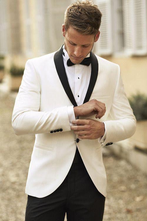 белый свадебный пиджак