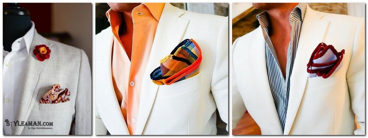 аксессуары для белого пиджака