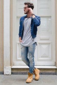 коричневые модные ботинки