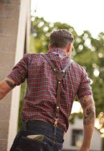 мужская рубашка в клетку красная