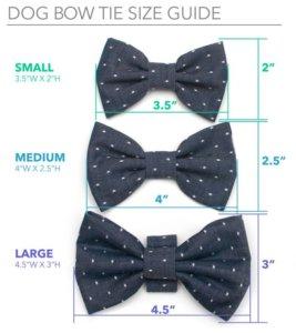 размеры галстука бабочки