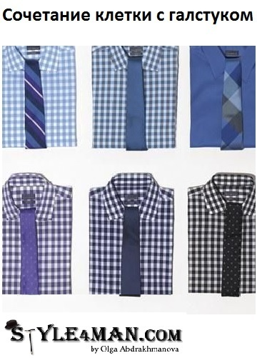 сочетание клетки с галстуком