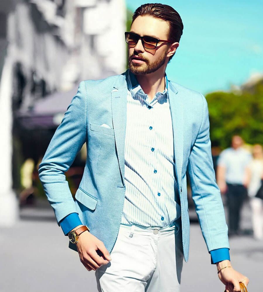 Мужской пиджак как носить