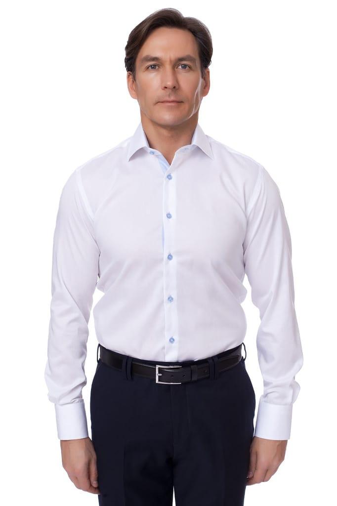 Приталенная хлопковая мужская рубашка KANZLER Приталенная хлопковая мужская рубашка KANZLER