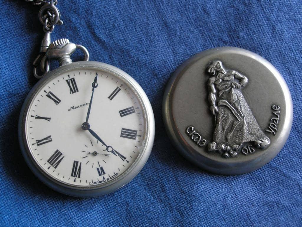 советские карманные часы
