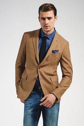 мужской костюм с коричневым верхом