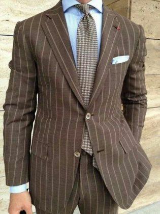 мужской пиджак в горизонтальную контрастную полоску