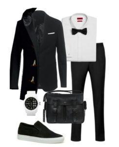 костюм для мужчин черный
