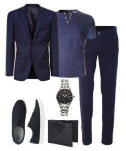 стильный костюм синий 10,03