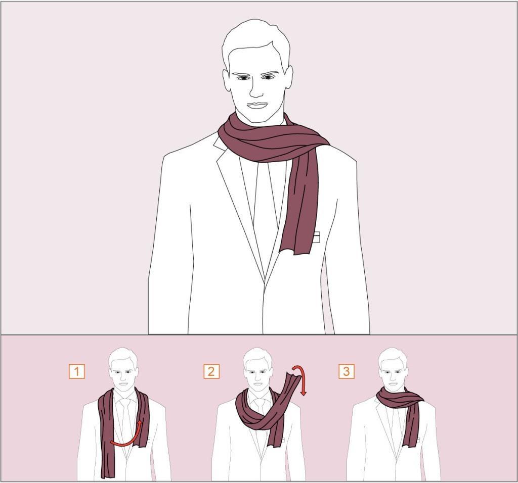 2-й способ как завязывать шарф